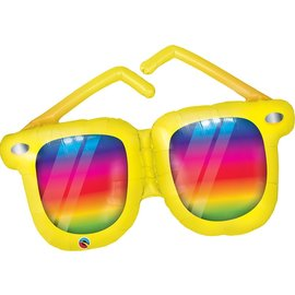 Foil Balloon-Supershape- Yellow Sunglasses