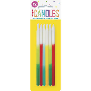 Candles-Neon Birthday-12pk