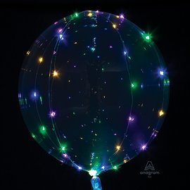"""Decorative Crystal Clear Ballon With Colourful Light string-15.75"""" x 15.75"""""""