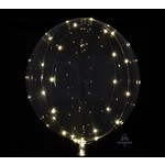 """Decorative Crystal Clear Balloon With Gold Light String- 15.75"""" x 15.75"""""""