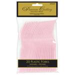 Forks-Plastic-Blush Pink-20pk