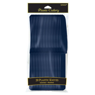Knives-Plastic-True Navy-20pk