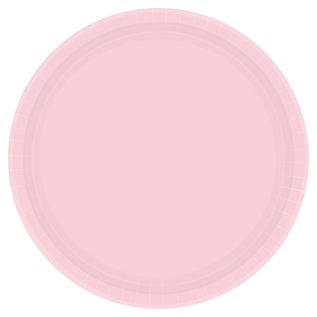 Luncheon Paper Plates-Blush Pink-20pk-9""