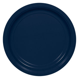 Beverage Paper Plates-True Navy-20pk-7""