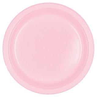 "Dinner Plastic Plates-Blush Pink-20pk-10.5"""