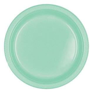 "Dinner Plastic Plates-Cool Mint-20pk-10.5"""