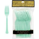 Forks-Plastic-Cool Mint-20pk