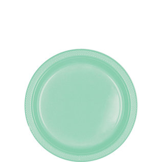 Beverage Plastic Plates-Cool Mint-20pk-7""