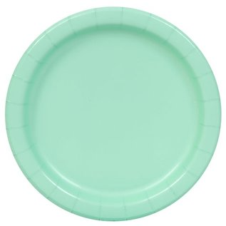 """Luncheon Paper Plates-Cool Mint-20pk-9"""""""