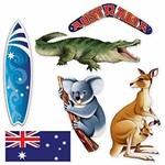 Cutouts - Australian / 6 Pieces