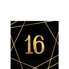 Beverage Napkins-Elegant Sixteen-16pcs-2ply