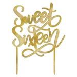 Cake Topper- Sweet Sixteen