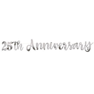 Banner-25th Anniversary Banner-Silver-5ft