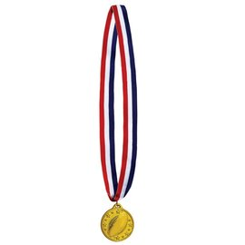 Medal-Football Gold Medal with Ribbon