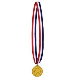 Medal-Baseball Gold Medal with Ribbon