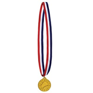 Medal-Baseball Gold Medal with Ribbon