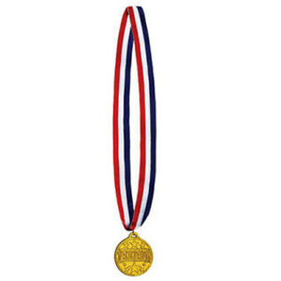 Medal-Participation Gold Medal with Ribbon