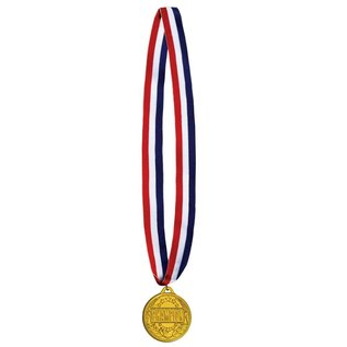 Medal-Champion Gold Medal with Ribbon