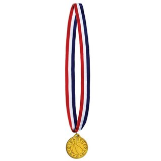 Medal-Basketball Gold Medal with Ribbon