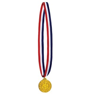 Medal-Soccer Gold Medal with Ribbon