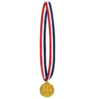Medal-First Place Gold Medal with Ribbon