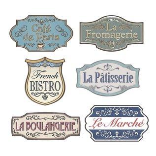 Cutouts-French Shop Sign-6 pcs