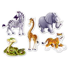 Cutouts-Mini-Jungle Animals-10pcs
