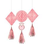 Honeycomb Decorations-Blush Wedding-3pk