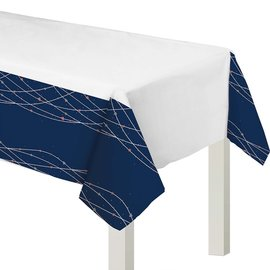 "Table Cover-Navy Bride-54"" x 102"""