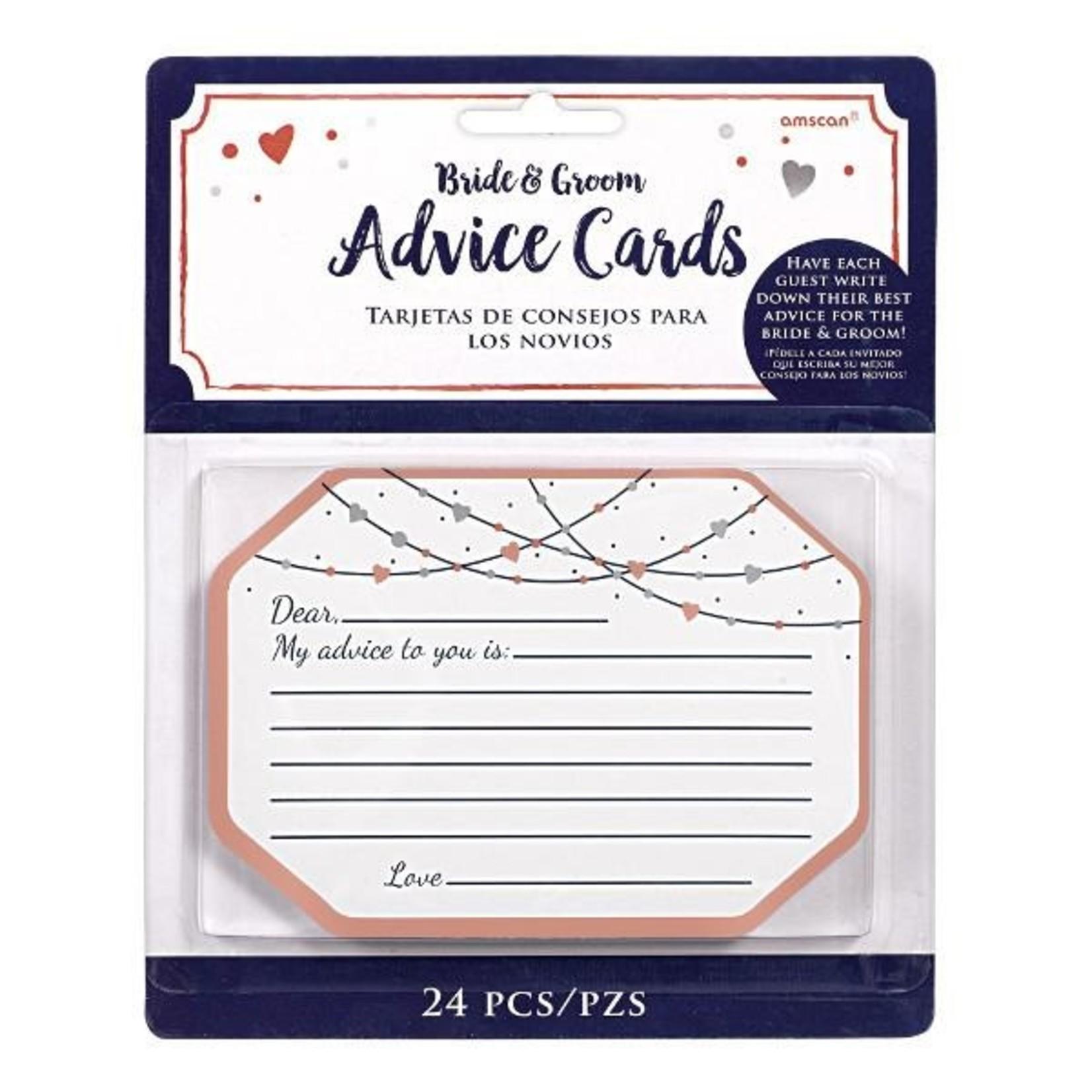 Advice Cards-Bride & Groom-Navy Bride-24pk