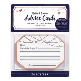 Advice Cards-Bride & Groom-Navy Bride-24pk