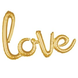 Foil Balloon- Air-Filled- Love - Gold