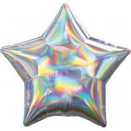 "Foil Balloon-Iridescent Star-18"""