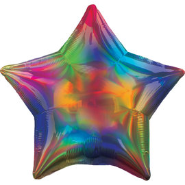 Pioneer Foil Balloon-Rainbow Iridescent Star-18""