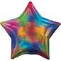 """Pioneer Foil Balloon-Rainbow Iridescent Star-18"""""""