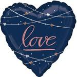 Foil Balloon-Supershape-Navy Love Heart