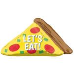 """Foil Balloon - Pizza/Lets Eat-45"""" x 22"""""""