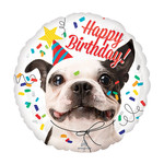 "Foil Balloon-Happy Birthday-Puppy-18"""