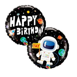 Foil Balloon-Space Birthday-18""