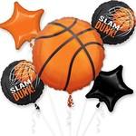Foil Balloon-Basket Ball Bouquet-5pk