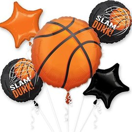 Foil Balloon-Basket Ball Bouquet-5pk