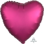 """Foil Balloon - Pomegranate  Satin Luxe - Heart - 18"""""""