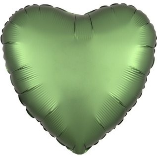 Foil Balloon-Satin Luxe Heart Emerald Green-18""