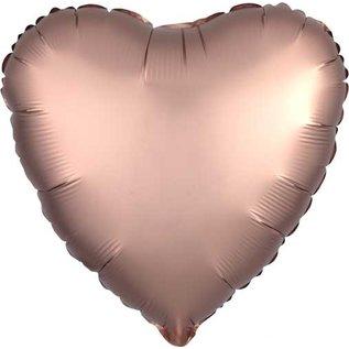 "Foil Balloon-Satin Luxe Heart Rose Gold-18"""