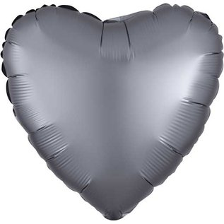 Foil Balloon-Satin Luxe Star Graphite Gray-18""