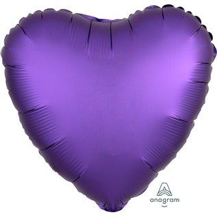 """Foil Balloon-Satin Luxe Heart-Purple-18"""""""