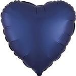 """Foil Balloon - Navy - Satin Luxe Heart - 18"""""""