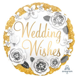 Foil Balloon - Wedding Wishes - 18""