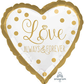 Foil Balloon- Love Always & Forever- 18""