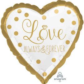 """Foil Balloon- Love Always & Forever- 18"""""""